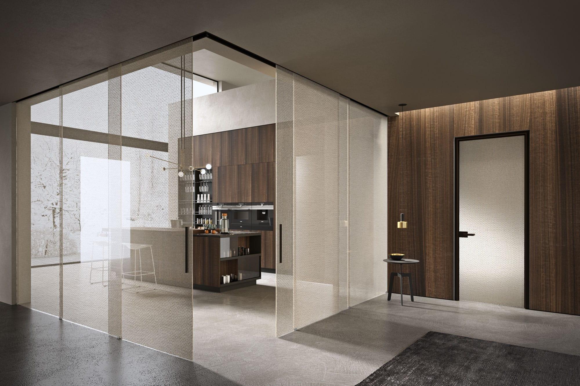 Parete Divisoria Con Porta Scorrevole gli ambienti | henry glass