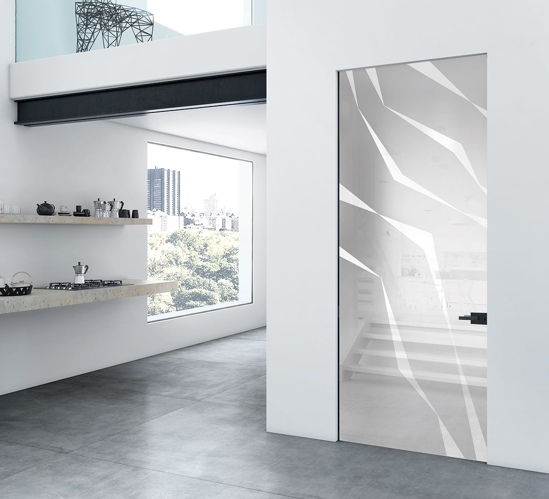 Porte a battente di vetro henry glass for Porta battente