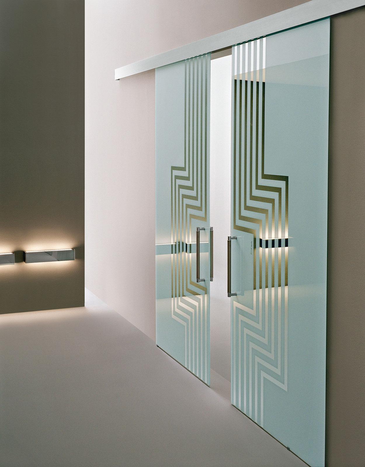 Alessandro mendini porte di design henry glass - Porta specchio scorrevole ...
