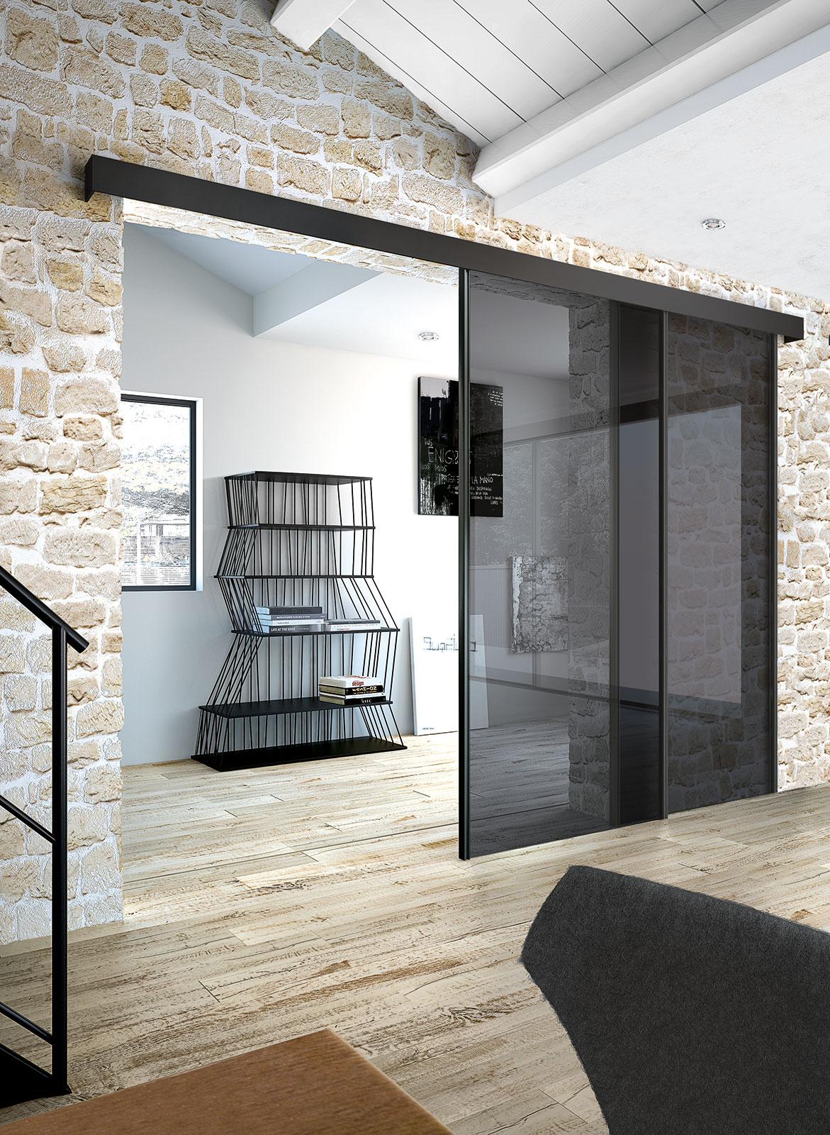 Porta Scorrevole Esterna Vetro tekna | henry glass