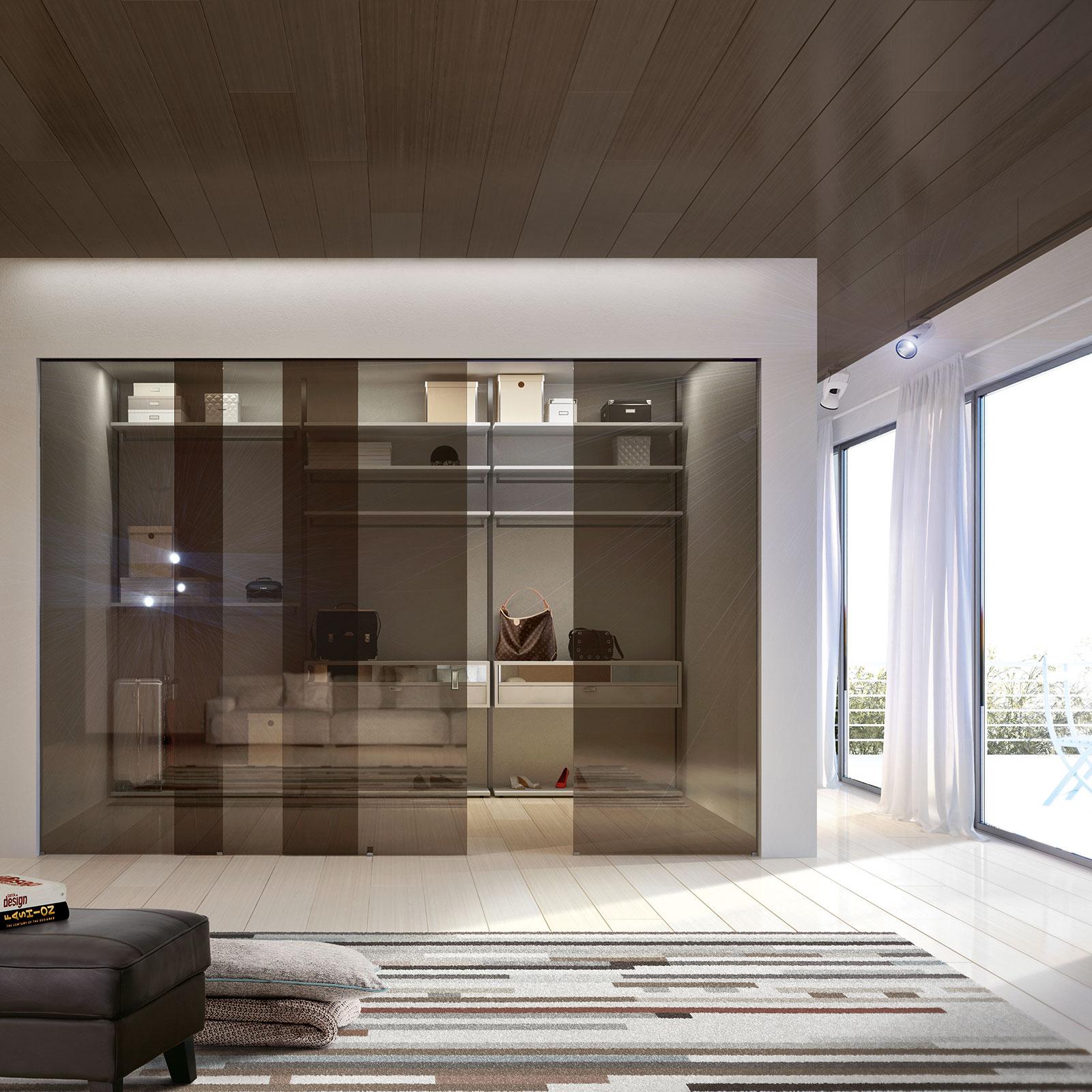 Porte scorrevoli in vetro per interni vitra henry glass - Vetrate scorrevoli per interni ...