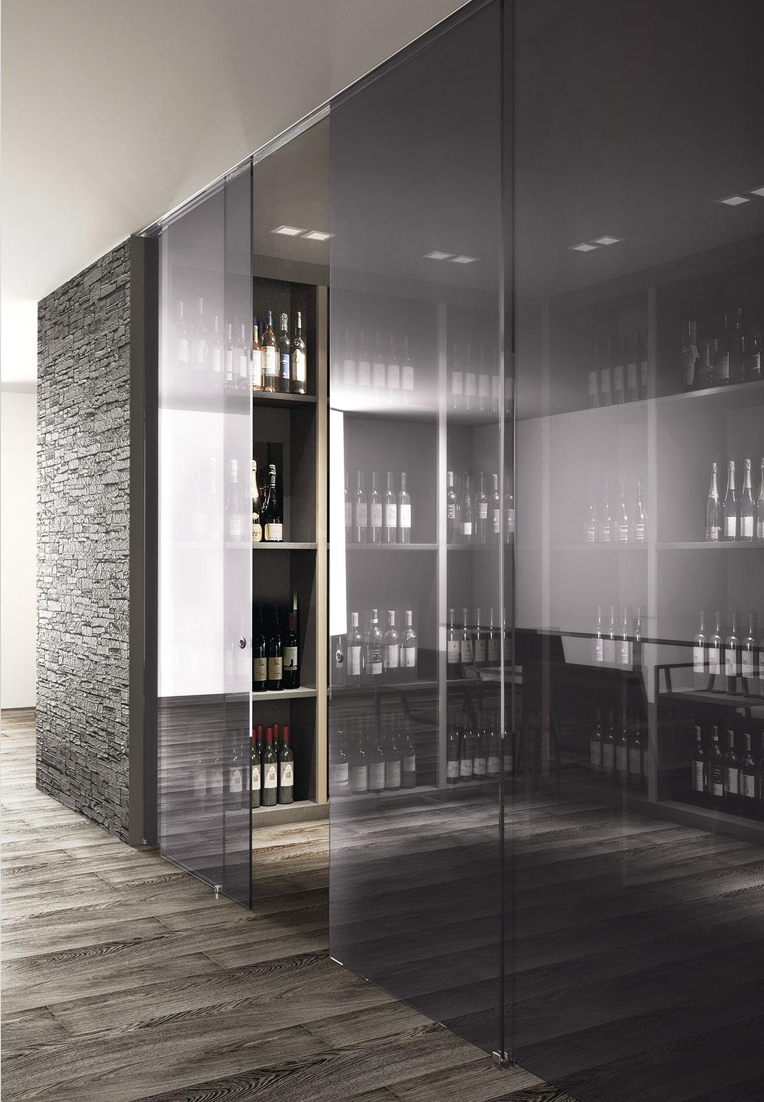 Porte scorrevoli in vetro per interni: Vitra   Henry glass