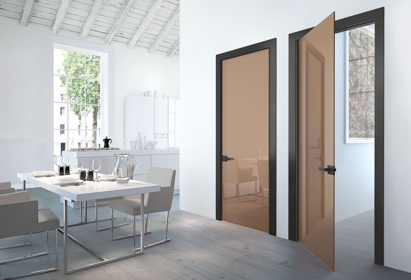 Xilo porte sistemi henry glass for Porte a battente