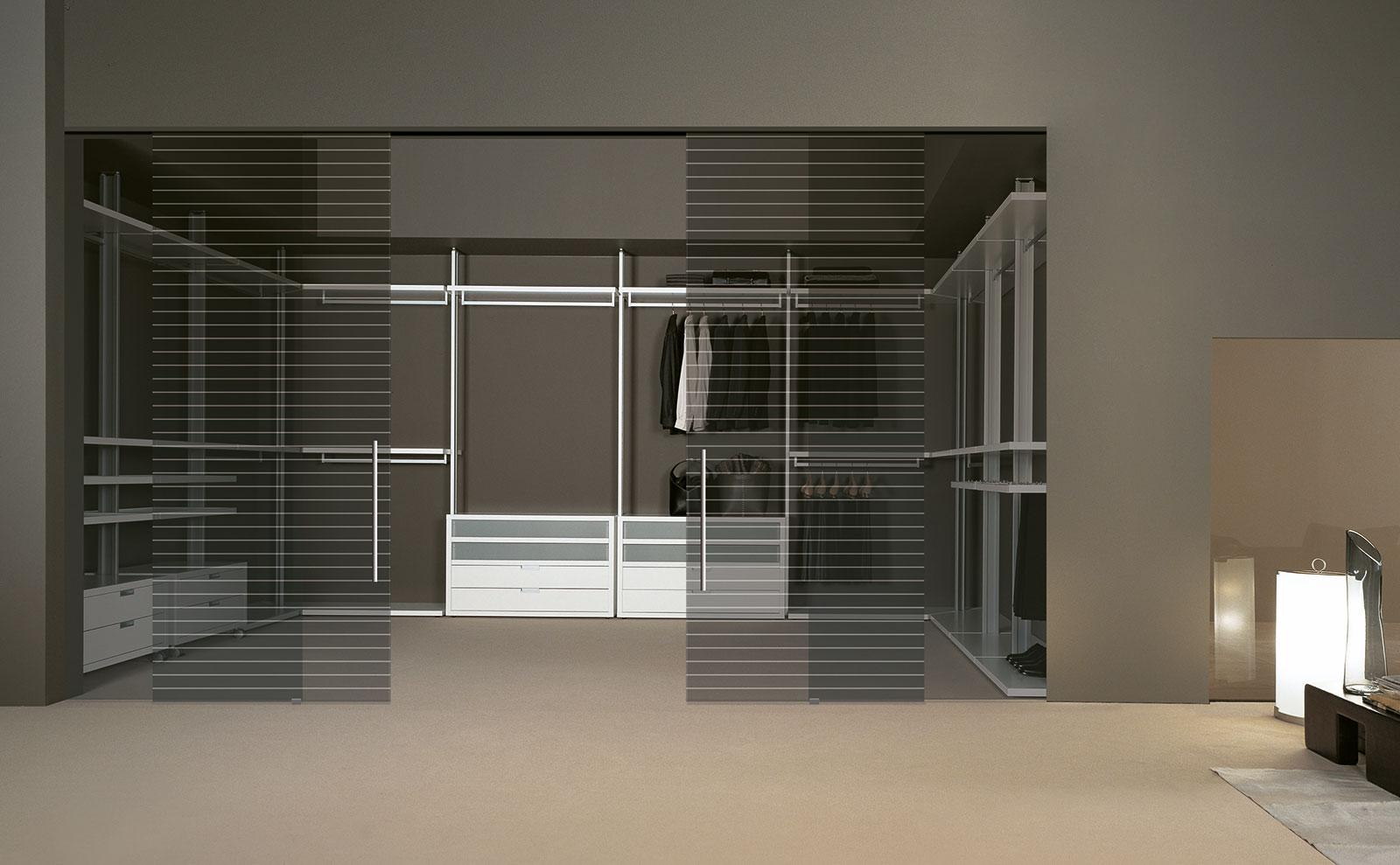 Cabina armadio su misura vesta henry glass - Porte scorrevoli per cabina armadio ...