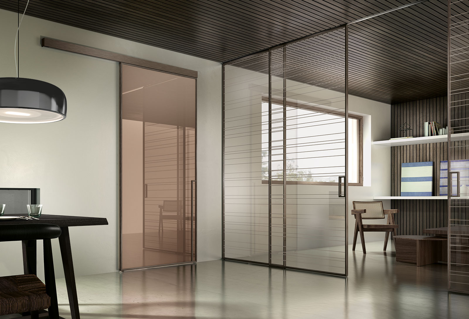 Manhattan porte sistemi henry glass - Porte a scorrimento esterno ...