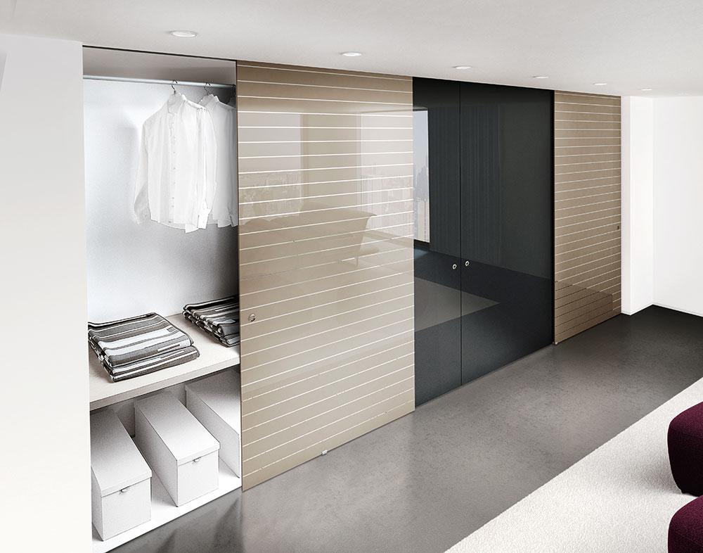 Cabina armadio su misura porte sistemi henry glass - Ante scorrevoli per cabine armadio ...