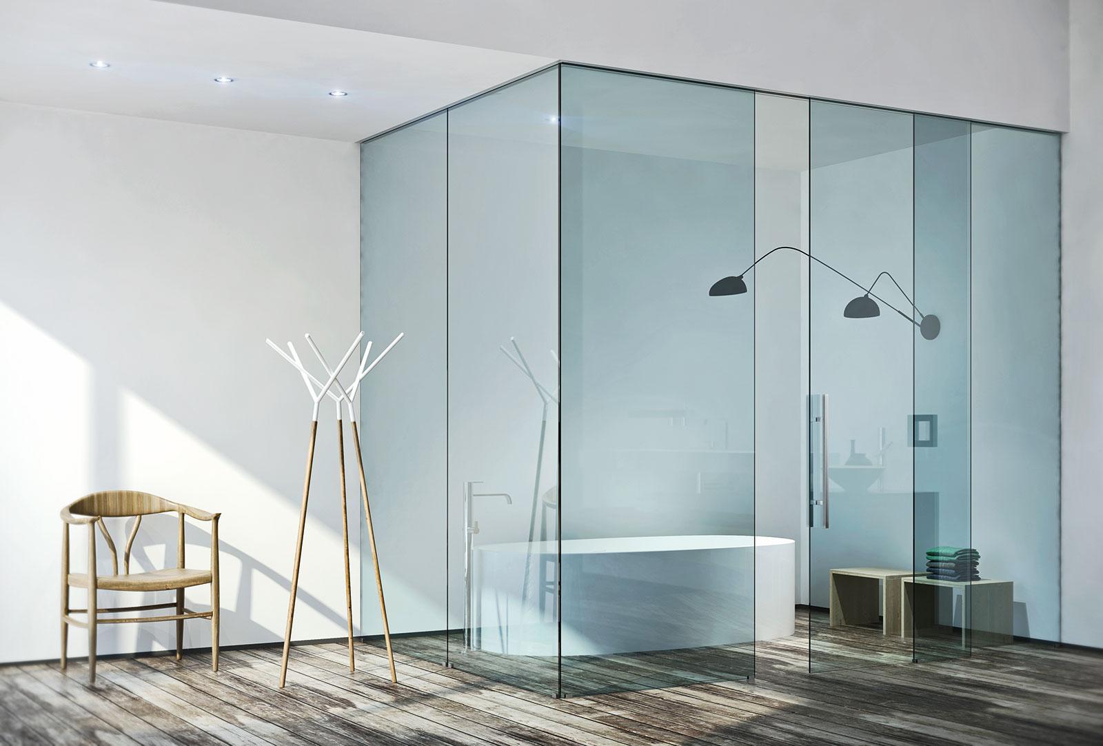 Porte Scorrevoli Vetro 3 Ante.Inside Porte Sistemi Henry Glass