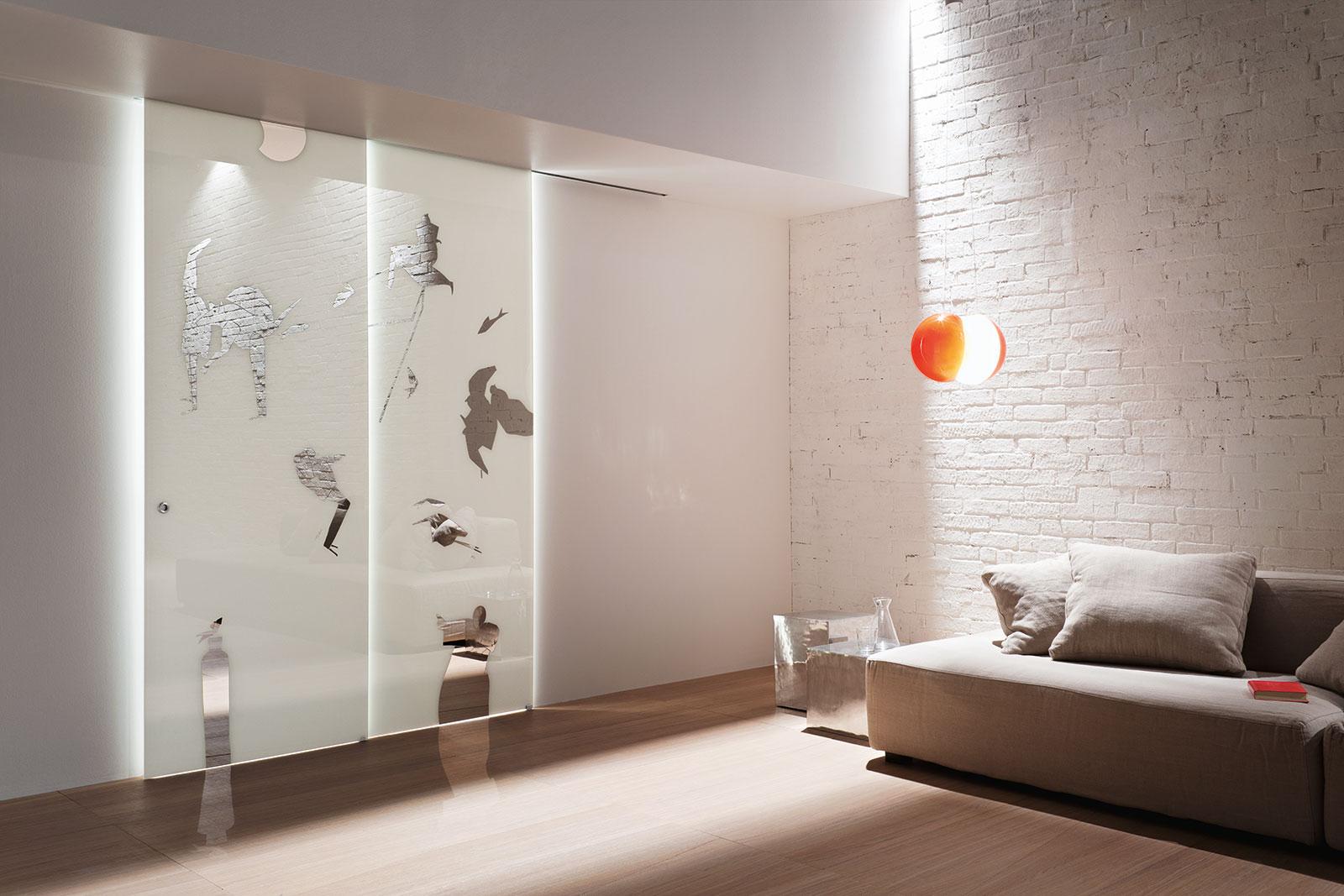 Porte decorate rendi unica la tua porta henry glass - Porta a vetri scorrevole ...