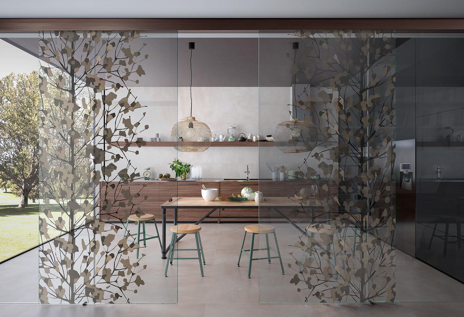 Porta scorrevole in vetro esterno muro | Henry glass