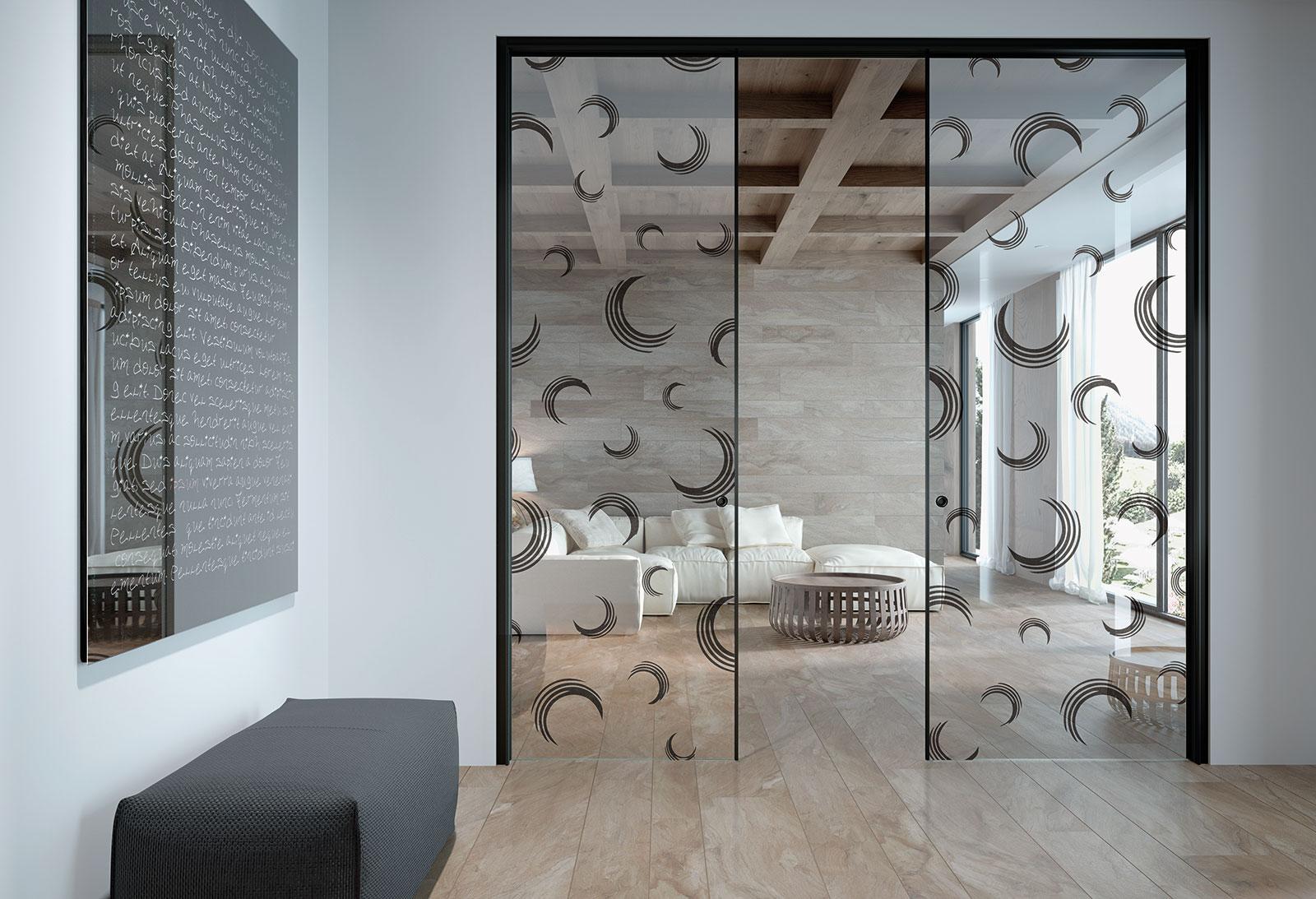 Porte scorrevoli a scomparsa vetro henry glass - Porte a scomparsa prezzi ...