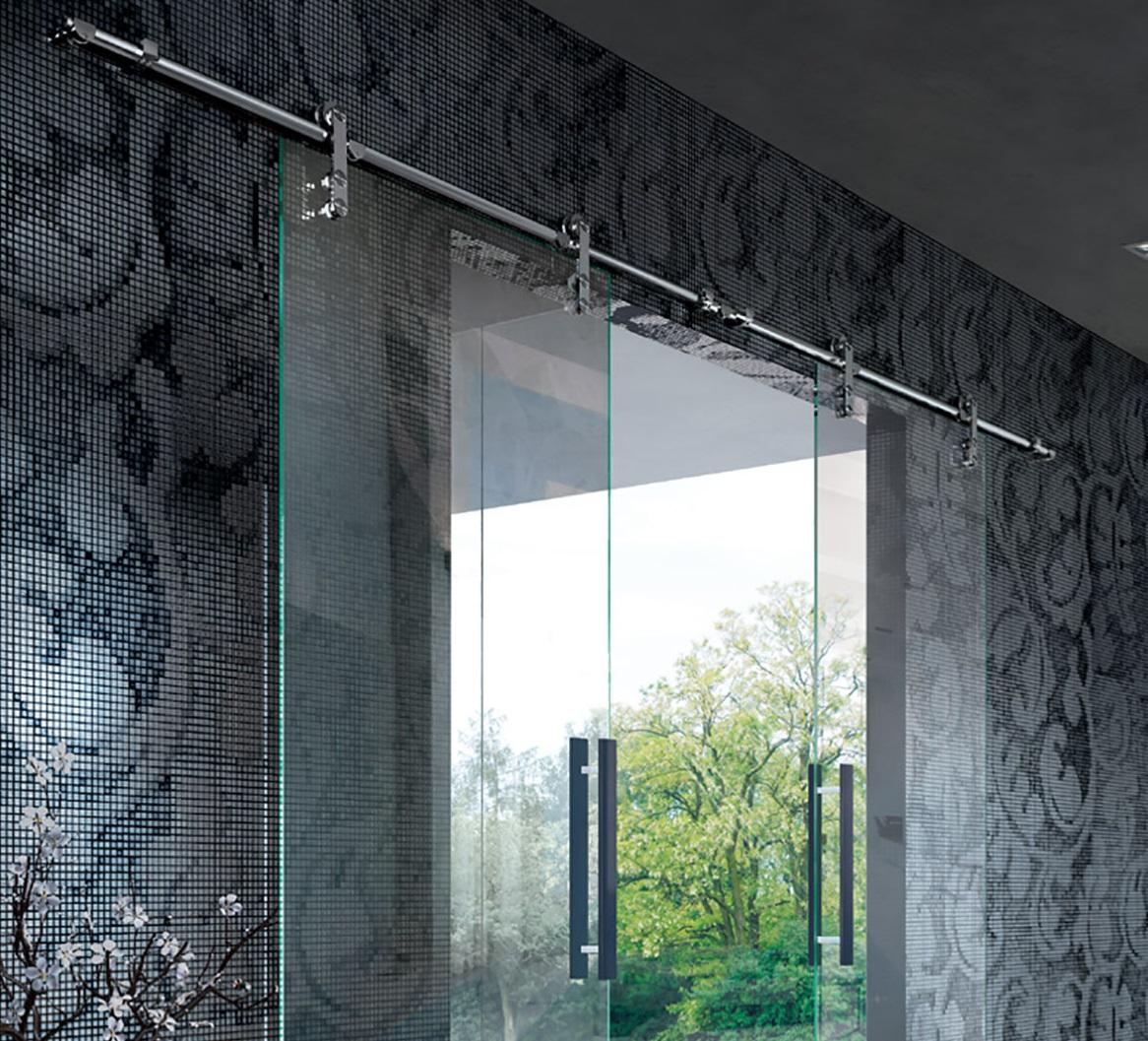 Porta Scorrevole Su Muro Portante vision - porte & sistemi | henry glass