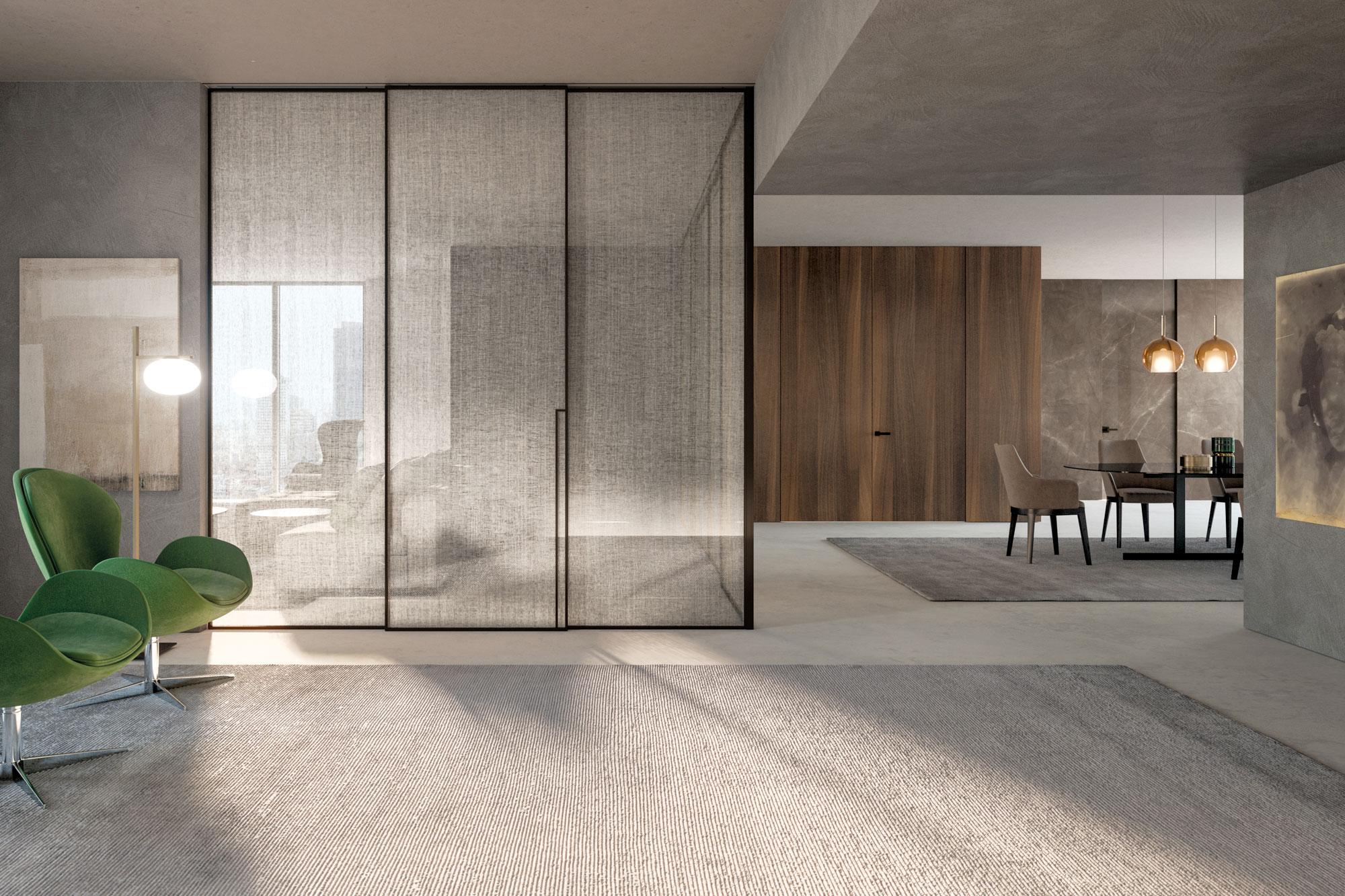Cucina Con Vetrata Scorrevole porte in vetro decorate e soluzioni di design | henry glass